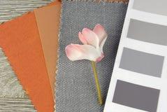 织品样片设计 库存图片