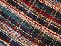 织品格子花呢披肩 免版税库存图片
