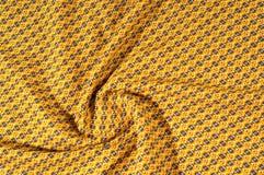 织品棉花是棕色的与圈子的样式 使光滑和池氏 图库摄影