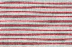 织品红色有条纹 库存照片
