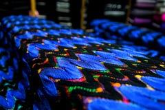 织品纹理纺织品五颜六色的帆布 免版税库存图片