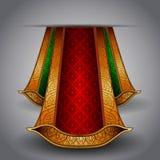 织品绿色豪华红色皇家向量 免版税库存照片