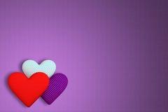 织品背景与另外p的三容量心脏的 皇族释放例证