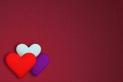 织品背景与另外p的三容量心脏的 向量例证