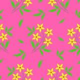 织品花卉模式 库存例证