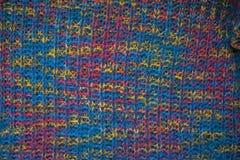 织品被编织的纹理 多彩多姿的织品球衣特写镜头视图  多色抽象背景和纹理设计师的 colo 免版税库存图片