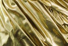 织品金黄纹理 库存图片