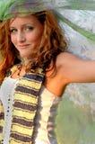 织品水彩妇女 免版税图库摄影