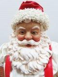 织品Maché圣诞老人,首肩 免版税库存照片