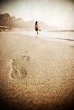 织地不很细海滩 免版税库存照片