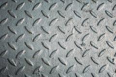 织地不很细铁板材,金属背景 免版税库存照片