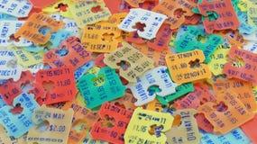 终止发行日价牌背景 免版税库存图片