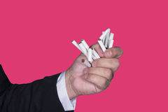 终止烟 免版税库存图片