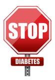 终止糖尿病 免版税库存图片