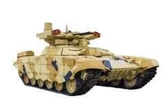 终止者2 俄国火力支援战斗用车辆BMPT-72 免版税库存照片