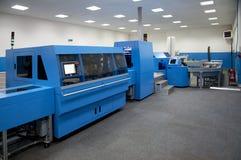 终点线新闻打印印刷所 免版税库存照片