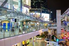 终端21是连接曼谷天空火车a的商城 库存图片