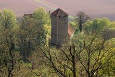 绍姆堡城堡在Weserbergland德国 免版税库存图片