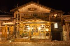 绍泽杜尔克西是一滑雪场在意大利北部,在都灵附近,2013年 库存照片