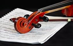 经典仪器字符串小提琴 库存图片