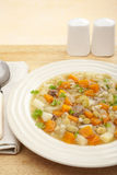 经典刻痕汤蔬菜汤碗 免版税库存图片