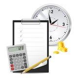 经典办公室项目 免版税库存图片