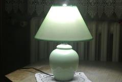 经典台灯,有光的打开了 免版税图库摄影