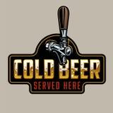 经典啤酒轻拍 皇族释放例证