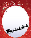 经典圣诞卡 免版税库存图片