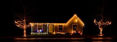 经典圣诞灯主题 库存照片