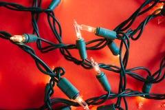 经典圣诞灯 免版税库存图片