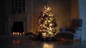 经典圣诞节背景 股票视频