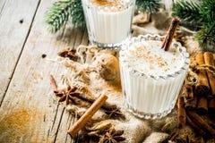 经典圣诞节饮料蛋黄乳 免版税库存图片