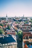 经典屋顶在塔林爱沙尼亚 免版税图库摄影