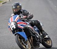 经典摩托车街道在Methven新西兰的赛跑的CBR250 库存照片