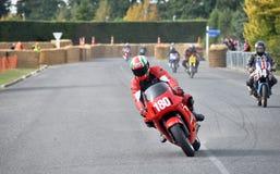 经典摩托车街道赛跑的Ducati在Methven N的Sebring 350 免版税库存图片