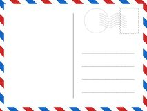 经典明信片 您的设计的传染媒介例证 向量例证