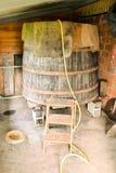 经典木葡萄酒桶 库存照片