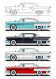经典汽车- 60s 库存照片