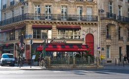 经典法国咖啡馆场面 图库摄影