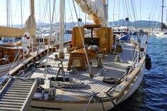 经典法国圣徒tropez游艇 免版税图库摄影