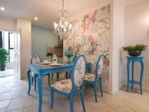 经典用餐的豪华空间 免版税库存图片