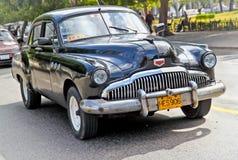 经典美国汽车在哈瓦那。 古巴。 免版税库存照片