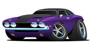 经典肌肉汽车动画片例证 库存照片