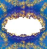 经典花卉框架 皇族释放例证