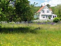 经典英国房子新的白色 图库摄影