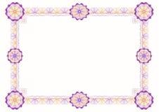 经典装饰框架扭索状装饰玫瑰华饰 免版税库存图片