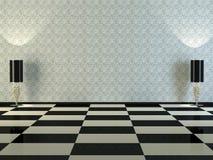经典设计高雅内部空间 库存照片