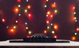 经典音响木吉他 选择聚焦 免版税图库摄影