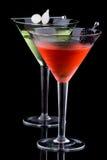 经典鸡尾酒马蒂尼鸡尾酒多数普遍的系列 库存图片